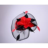 Pluma / Red Fascinators con 1 Boda / Ocasión especial / Al aire libre Celada