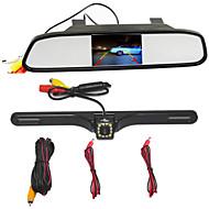 BYNCG WG34 480p Auto DVR 170 stupnjeva Široki kut 4.3inch TFT Dash Cam s Mod za parkiranje Car Recorder