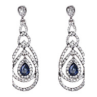 Women's Sapphire Drop Earrings Crystal Earrings Drop Jewelry Royal Blue For Wedding Party Daily