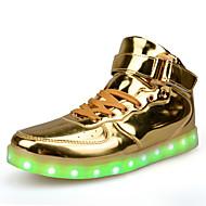 Női Tornacipők Kényelmes lomha csizma Világító cipők PU Tavasz Ősz Hétköznapi Gyalogló Kényelmes lomha csizma Világító cipők Fűző Lapos