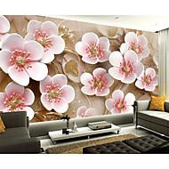 Virágos / Art Deco / 3D Wallpaper Otthoni Kortárs Falburkolat , Vászon Anyag ragasztószükséglet Falfestmény , szoba Falburkoló