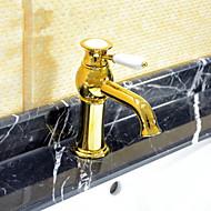 baratos Série Ti-PVD-Arte Deco/Retro Difundido Válvula Cerâmica Uma Abertura Monocomando e Uma Abertura Ti-PVD, Torneira pia do banheiro