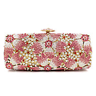 cheap Wedding Bags-Women's Bags Metal Evening Bag Crystal / Rhinestone / Flower for Wedding / Event / Party / Formal Pink