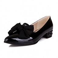 Damă Pantofi Piele Originală Imitație de Piele Primăvară Vară Toamnă Confortabili Noutăți Mocasini & Balerini Plimbare Toc Gros Vârf