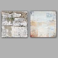 Maalattu Abstrakti Moderni European Style Kanvas Hang-Painted öljymaalaus Kodinsisustus 2 paneeli