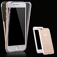 cheap -For iPhone X iPhone 8 iPhone 7 iPhone 7 Plus iPhone 6 iPhone 6 Plus iPhone 5 Case Case Cover Transparent Full Body Case Solid Color Soft