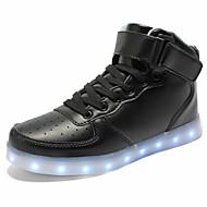 Uniseks Cipele PU Proljeće Jesen Udobne cipele Inovativne cipele Svjetleće tenisice Sneakers Ravna potpetica Okrugli Toe Vezanje Kopčanje
