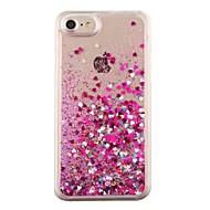 Til iPhone 8 iPhone 8 Plus iPhone 7 iPhone 7 Plus iPhone 6 Etuier Flydende væske Bagcover Etui Hjerte Hårdt PC for Apple iPhone 8 Plus
