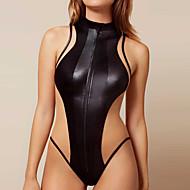 Mujer Deportivo Negro Pícaro Una Pieza Bañadores - Un Color M L XL Negro / Súper Sexy