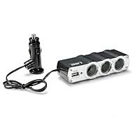 USBポートの車の充電で12V、24Vトリプル3ウェイ車のシガーライター充電スプリッタソケット電源アダプタスプリッタ
