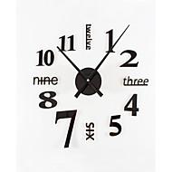 diy ultra grande moda simples moderno acrílico metal mudo relógio de parede