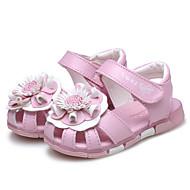 女の子用-ウェディング アウトドア ドレスシューズ カジュアル パーティー-レザー-フラットヒール-コンフォートシューズ フラワーガールの靴-サンダル-ピンク ホワイト スイカ色