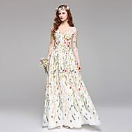 Linha A Decote V Longo Renda Vestido de casamento com Renda de LAN TING BRIDE®