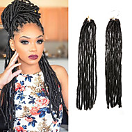 dreadlocks Tresse Natté Tresses au Crochet 45cm Fausses Dreads Fausses Dreads Crochet Dreadlock Extensions Cheveux 100 % Kanekalon Brun
