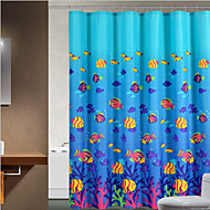 cheap Shower Curtains-Shower Curtains Neoclassical Polyester Animal Machine Made