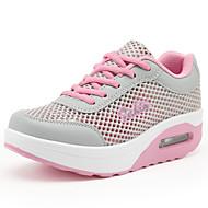 preiswerte -Damen Schuhe Tüll Frühling Sommer Herbst Creepers Komfort Sportschuhe Wasser-Schuhe Plattform Runde Zehe Schnürsenkel Für Normal Weiß