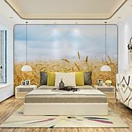 פרחוני ארט דקו 3D טפט עבור בית עכשווי וול כיסוי , קנבאס חוֹמֶר דבק נדרש צִיוּר קִיר , Wallcovering חדר