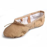 billige Kustomiserte dansesko-Dame Ballettsko Lerret Flate Flat hæl Kan spesialtilpasses Dansesko Rød / Rosa / Mandel / Innendørs / Ytelse / Trening
