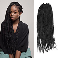 Senegal Twist Braids Hårforlengelse 20Inch Kanekalon 35 Strands (Recommended By 3 Packs for a Full Head) Strand 98g gram Hair Braids
