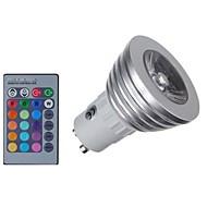 3W E14 GU10 GU5.3(MR16) GU5.3 LEDスポットライト MR16 1 COB 300 lm RGB 明るさ調整 リモコン操作 装飾用 AC 85-265 V 1個