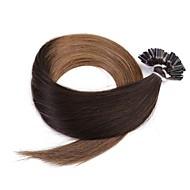 neitsi 20 ''50g / 많은 1g / s의 옹 브르 유 융합 인간의 머리카락 확장 팁을 미리 결합 네일 100 % 레미 t2-8 #