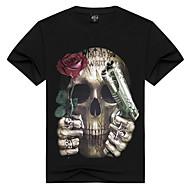 Rund hals Herre Bomuld, Trykt mønster Aktiv Punk & gotisk Sport T-shirt