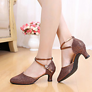 baratos Sapatilhas de Dança-Mulheres Sapatos de Dança Latina Glitter / Paetês Sandália Lantejoulas / Gliter com Brilho Salto Agulha Não Personalizável Sapatos de