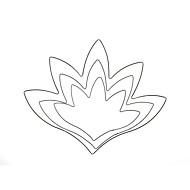 billige Kjeksverktøy-Bakesett Blomst For Sjokolade For Småkaker For Godteri Rustfritt stål Gør Det Selv Bryllup Bursdag Valentinsdag