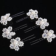 billiga Brudhuvudbonader-Pärla Kristall Hårpinne Hårsticka 1 Bröllop Speciellt Tillfälle Hårbonad