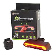 billige Sykkellykter og reflekser-Sykkellykter Laser LED LED Sykling Fjernkontroll Vanntett Super Lett Lithium-batteri 80 Lumens Batteri Sykling Utendørs