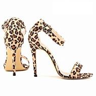 tanie Obuwie damskie-Damskie Obuwie Derma Lato Szpilka na Casual Formalne spotkania Impreza / bankiet Czerwony Niebieski Black/White Golden Leopard
