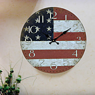 Traditional Country Retro Floral/Botanicals Characters Music Wall ClockRound Indoor/Outdoor Clock Wall Clock