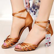 Chaussures de danse(Noir Rouge Argent) -Non Personnalisables-Talon Bobine-Similicuir-Latine Salsa , silver , us9 / eu40 / uk7 / cn41
