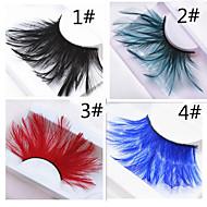 Eyelashes lash Full Strip Lashes Eyes Crisscross Colorful Lifted lashes Coloured gloss Handmade Animal wool eyelash Black Band