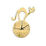 מודרני / עכשווי אגבי אחרים פרחוניים/בוטניים דמויות מוזיקה שעון קיר,מצחיק אקרילי בבית/ בטבע שָׁעוֹן