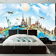 Art Deco 3D Wallpaper Otthoni Kortárs Falburkolat , Vászon Anyag ragasztószükséglet Falfestmény , szoba Falburkoló