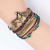voordelige Vintage Armbanden-Heren Dames Leder Schattig Vogel Boom van leven Oneindigheid 1pc Bedelarmbanden Lederen armbanden Wikkelarmbanden - Vintage Feest
