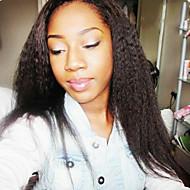 Damen Echthaar Perücken mit Spitze Haare mit intakter Kutikula (Remy Hair) Vollspitze Ohne Klebstoff und volle Spitze 130% Dichte Glatt