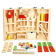 cheap Dress Up & Pretend Play-Tool Box Toy Tool Simulation Safety Wooden Boys' Kid's Gift