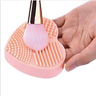 ieftine Geantă Perii & Accesorii-1 buc forma de inima plina de culoare curata alcătuiesc perii de culori aleatorii spălare perie de silice mănușă epurator de bord
