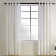 cheap Sheer Curtains-Sheer Curtains Shades Bedroom Plaid / Check Polyester / Cotton Blend Polyester Jacquard