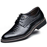 Men's Shoes Leather Spring Summer Fall Winter Fashion Boots Comfort Oxfords Lace-up Ruffles For Casual Office & Career Party & Evening