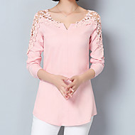 cheap -Women's Going out / Work Street chic / Sophisticated Blouse - Solid Colored Lace / Spring / Summer