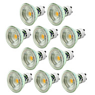 10pcs dimmable 5w gu10 הוביל זרקור 500lm חם / קר לבן נורה cob נורה ac220-240v