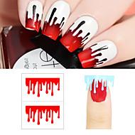 5set Neglekunst Klistermærke Udstandsningsskabelon til manicure Makeup Kosmetik Neglekunst Design