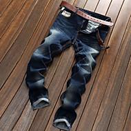 Homens Delgado Reto Jeans Calças - Sólido