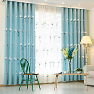 To paneler Window Treatment Europeisk , Tegneserie Soverom Poly/ Bomull Blanding Materiale gardiner gardiner Hjem Dekor For Vindu