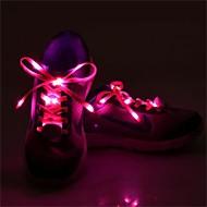 1 par lysende skolisse glød uformell ledet sko strykere joggesko parti camping skolissene for voksende canvas sko tilfeldig farge