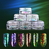 6SET Nagelkunst decoratie Strass parels make-up Cosmetische Nagelkunst ontwerp