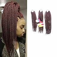 Senegal Twist Braids Hårforlengelse 18Inch+20Inch+22Inch Kanekalon 81 Strands Strand 200g gram Hair Braids